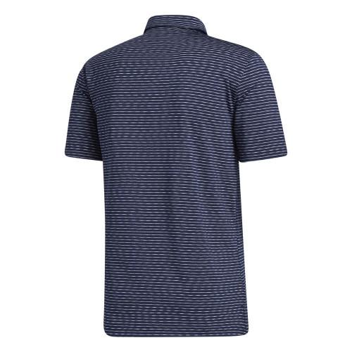 adidas Golf Mens Ultimate365 Space Dye Stripe Polo Shirt reverse