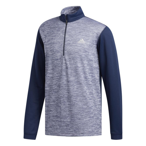 adidas Golf Mens Core Layering 1/4 Zip Pullover (Collegiate Navy)