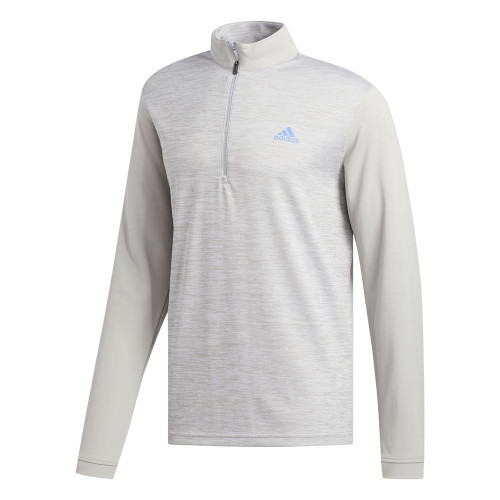 adidas Golf Mens Core Layering 1/4 Zip Pullover (Grey Two)