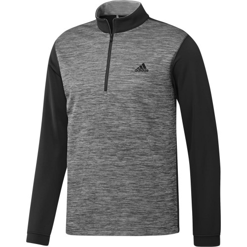 adidas Golf Mens Core Layering 1/4 Zip Pullover (Black)