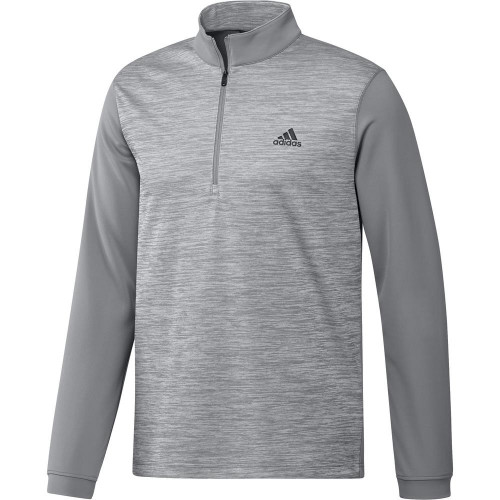 adidas Golf Mens Core Layering 1/4 Zip Pullover (Grey Three)