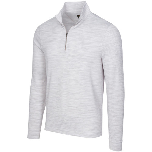 Greg Norman Heathered Mesh Stretch 1/4 Zip Mock Mens Pullover (Shark Grey Heather)