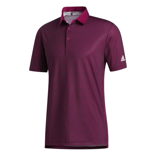 adidas Golf Mens Ultimate365 Polo Shirt (Power Berry)