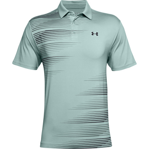 Under Armour Mens Graphic Solid PlayOff Golf Polo Shirt