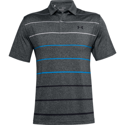 Under Armour Mens Front Nine Heather PlayOff Golf Polo Shirt