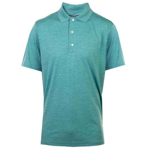 Greg Norman Mens Heathered UV Protection Golf Polo Shirt