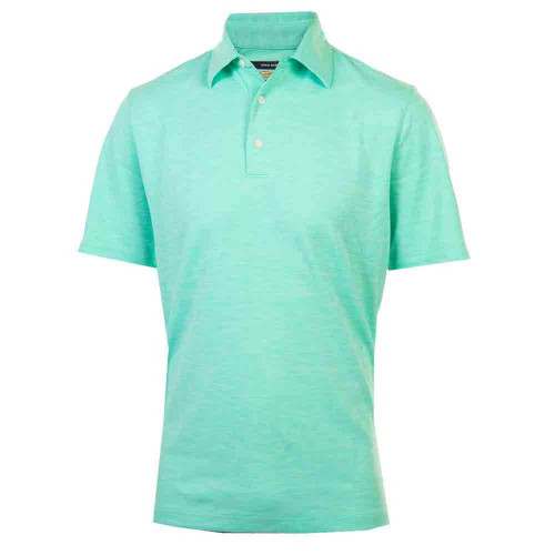 Greg Norman Mens Bold Heathered Golf Polo Shirt