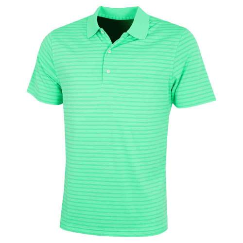 Greg Norman Mens Engineered Stripe Golf Polo Shirt