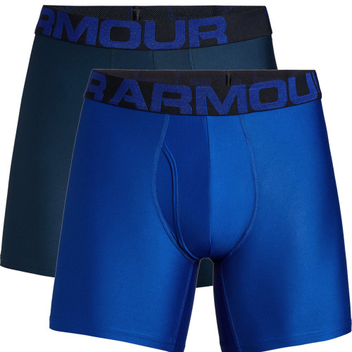 Under Armour Mens Tech 15cm Boxerjock 2 Pack Boxer Shorts Pants Stretch Underwear