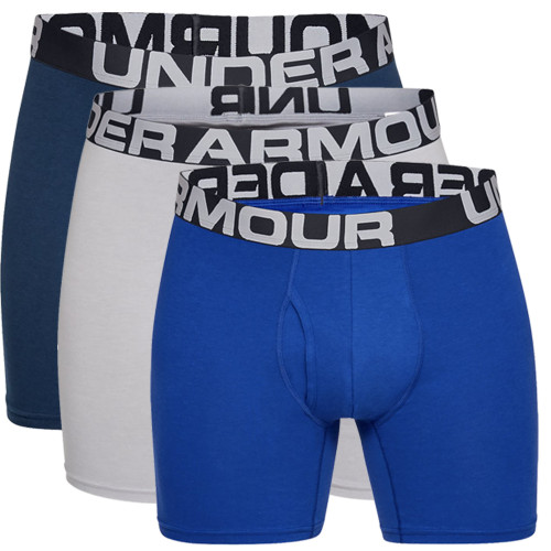 Under Armour Mens Charged Cotton 15cm Boxerjock 3 Pack