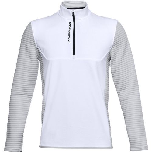 Under Armour Mens UA Storm Evolution Daytona 1/2 Zip Golf Sweater (White)