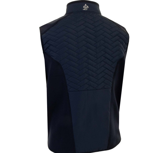 ProQuip Mens Gust Therma Quilted Full Zip Golf Gilet reverse