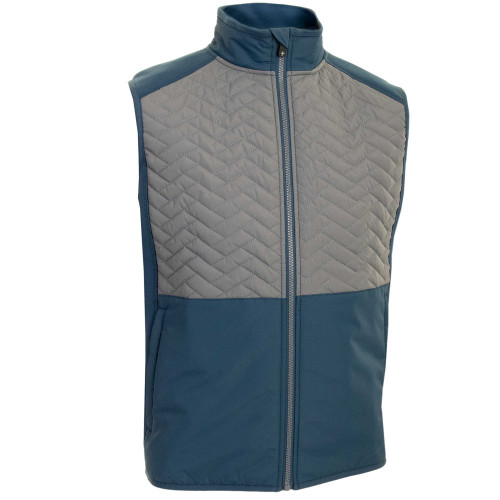 ProQuip Mens Gust Therma Quilted Full Zip Golf Gilet (Airforce Grey)