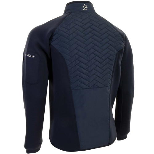 ProQuip Mens Gust Therma Quilted Full Zip Golf Jacket reverse
