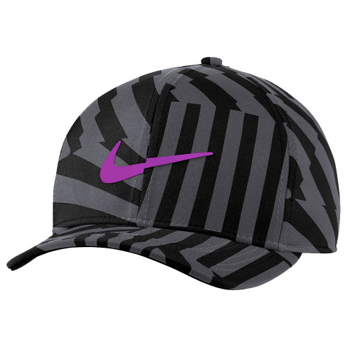 Nike Aerobill Classic 99 Print Baseball Cap  - Black/Smoke Grey/Purple