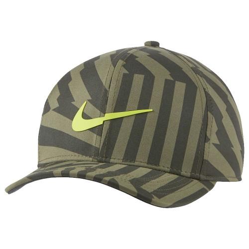 Nike Aerobill Classic 99 Print Baseball Cap (Sequoia/Olive/Lemon Venom)