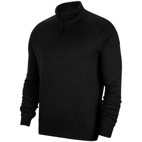 Nike Dry-Fit Player 1/2 Zip Golf Sweater (Black)