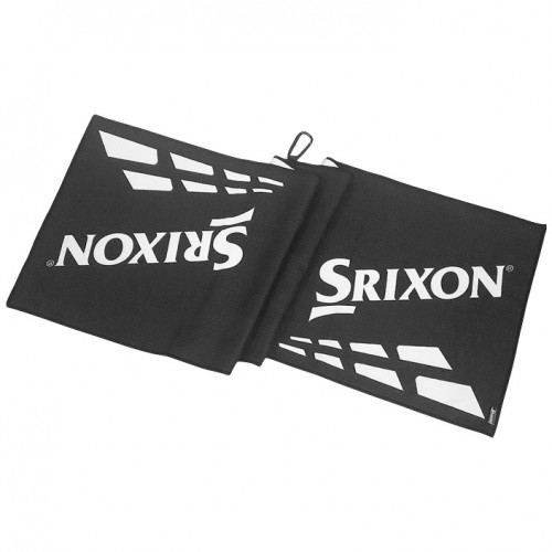 "Srixon Microfiber Tour Golf Towel (43""x13"") Black/White"