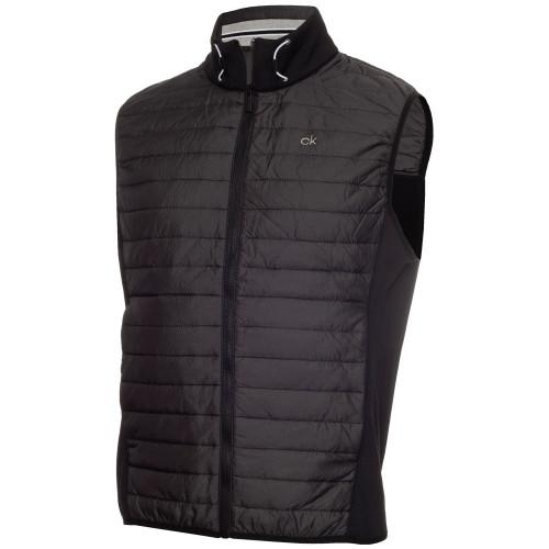 Calvin Klein Mens Wrangell Hybrid Golf Gilet (Black)