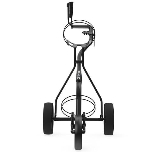 Wishbone Zero Megalite 3-Wheel Push Golf Trolley + Free Scorecard & Umbrella Holder reverse