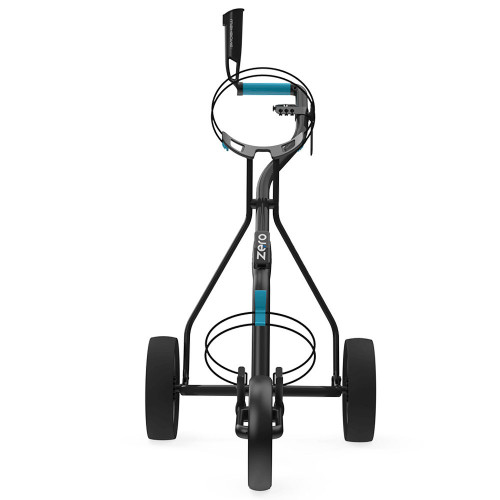 Wishbone Zero Megalite 3-Wheel Push Golf Trolley + Free Scorecard & Umbrella Holder reverse