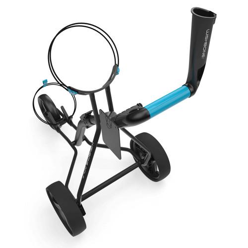 Wishbone Zero Megalite 3-Wheel Push Golf Trolley + Free Scorecard & Umbrella Holder