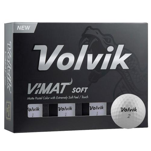 VOLVIK 2019 VIMAT SOFT MATTE FINISH GOLF BALLS - 1 DOZEN