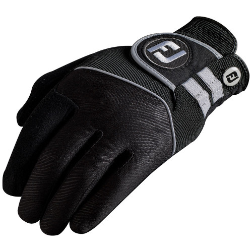FootJoy Mens Rain Grip Golf Glove Non Slip Wet Weather - Black reverse
