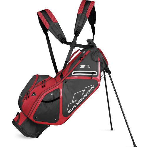 Sun Mountain 3.5 LS Stand/Carry Golf Bag (Gunmetal/Bright Red)