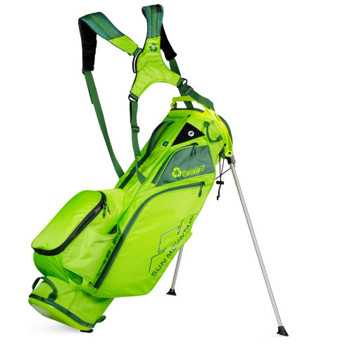 Sun Mountain Eco-lite Stand Golf Bag - made with recycled plastic (Rush Green/Green)