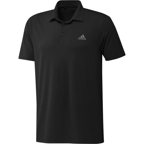 adidas Golf Ultimate365 Solid Mens Polo Shirt (Black)