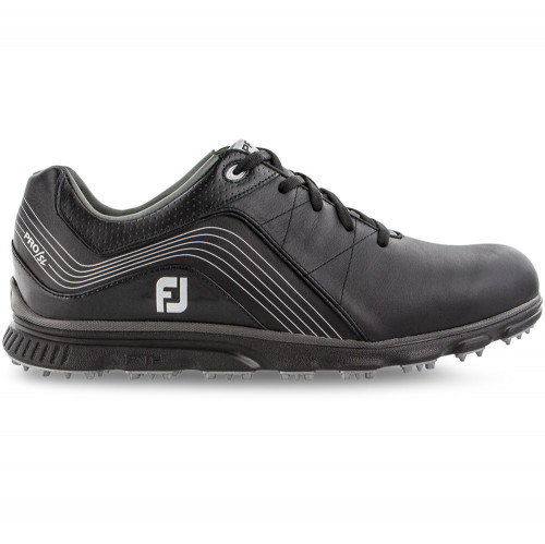 FootJoy Men's Pro SL Waterproof Leather Spikeless Golf Shoes (Black)