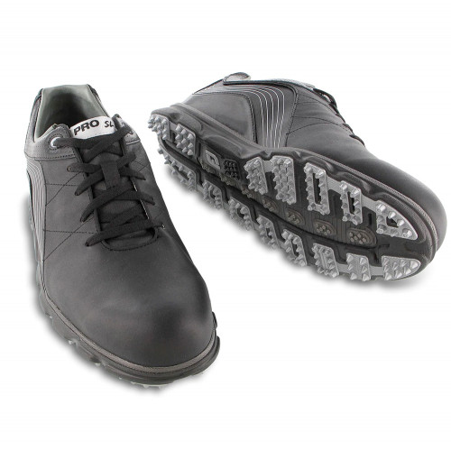 FootJoy Men's Pro SL Waterproof Leather Spikeless Golf Shoes (Black) reverse