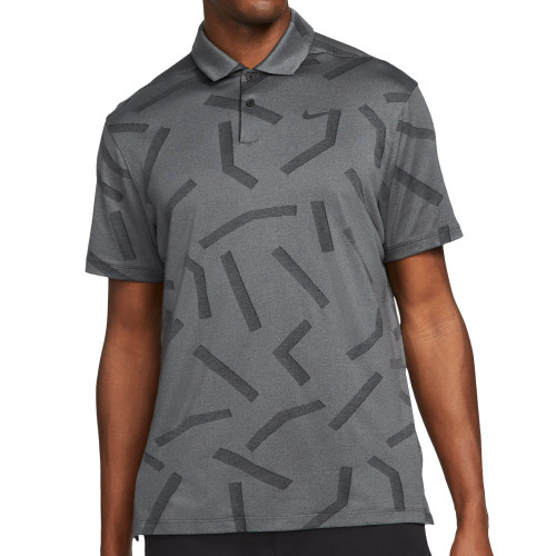 Nike Golf Dry Vapor Line Jacquard Polo Shirt (Dark Grey Smoke)
