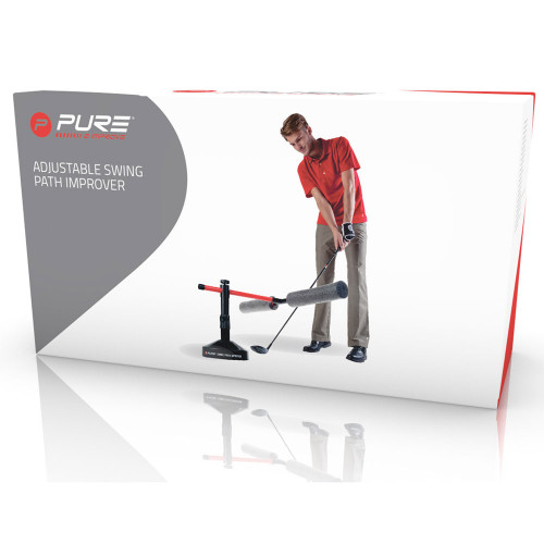 Pure2Improve Golf Adjustable Swing Path Improver / Training Aid reverse