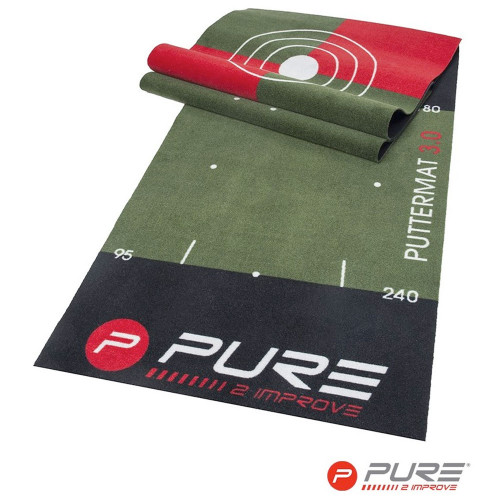 Pure2Improve Golf Putting Mat 3.0 / Training Aid (65x300cm) reverse
