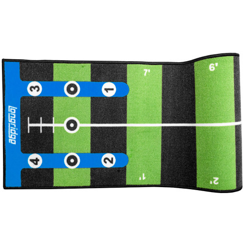 Longridge Golf Pro Putting Mat With Slope / Training Aid (3 & 4 Meters) reverse
