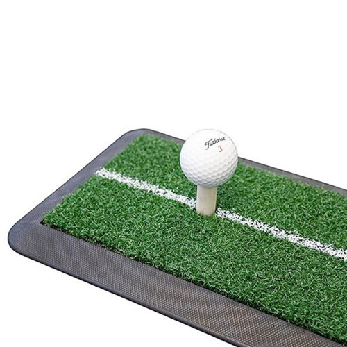 Longridge Launch Golf Driving Mat With Tee / Practice Training Aid (47x21cm) reverse