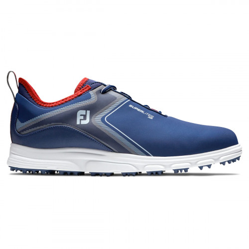 FootJoy SuperLites XP Mens Spikeless Golf Shoes  - Navy/White/Red