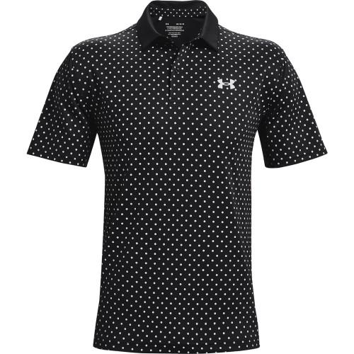 Under Armour Mens UA Performance Printed Golf Polo Shirt