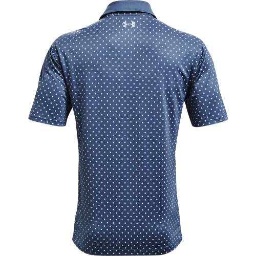 Under Armour Mens UA Performance Printed Golf Polo Shirt reverse