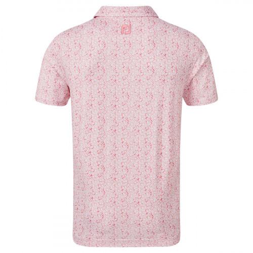 FootJoy Lisle Daisy Print Mens Golf Polo Shirt reverse