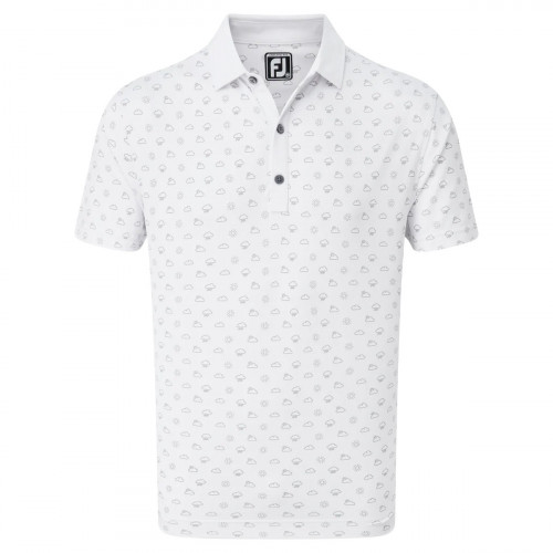 FootJoy Smooth Pique Weather Print Mens Golf Polo Shirt