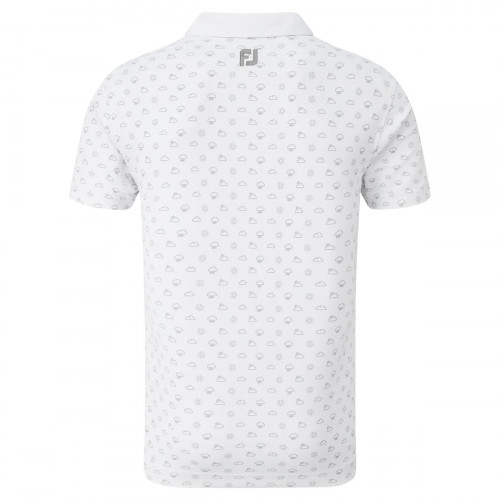 FootJoy Smooth Pique Weather Print Mens Golf Polo Shirt reverse