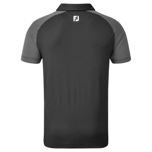 FootJoy Raglan Jacquard Block Mens Golf Polo Shirt reverse