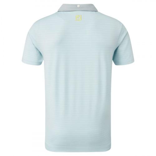 FootJoy Lisle Pinstripe Mix Mens Golf Polo Shirt reverse