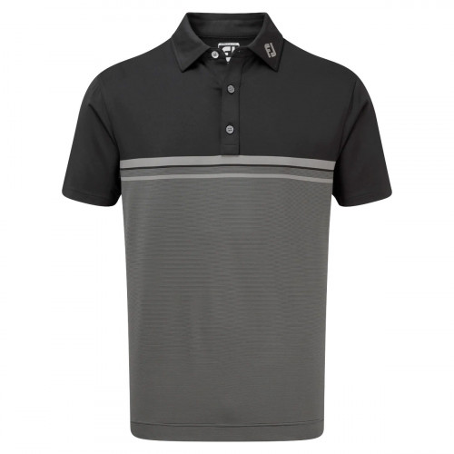 FootJoy Lisle Engineered End on End Stripe Mens Golf Polo Shirt
