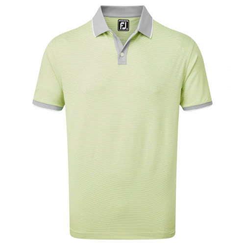 FootJoy Pique Ministripe Mens Golf Polo Shirt
