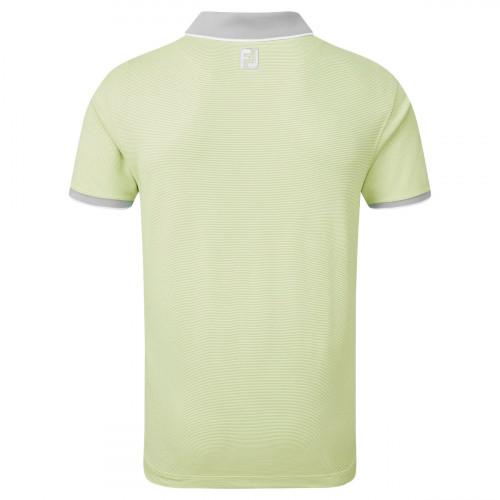 FootJoy Pique Ministripe Mens Golf Polo Shirt reverse