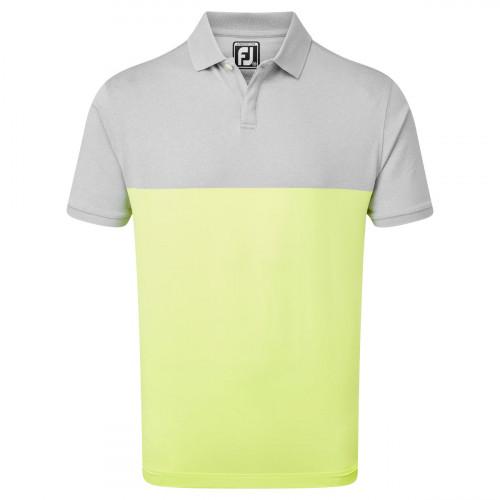FootJoy Lisle Engineered Block Mens Golf Polo Shirt